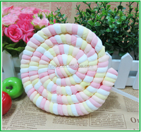 75g Giant mallow poofy pop marshmallow cotton candy lollipop