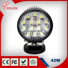 Spot Beam Round 42W auto car led lights for Tractor Side by Side 12v