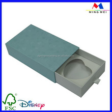 350gsm white card slide candle box, paper candle gift box with inserts