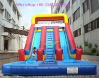 Hot sale double lanes Cheap Inflatable Water Slides for sale