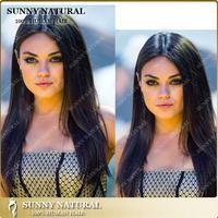Unprocessed Brazilian Human Hiar Wig Natural Black Best Selling Full lace Wig Silky Straight brazilian Virgin human hair wig