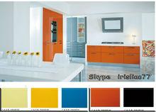 fábrica de color naranja de la cocina del gabinete de diseño