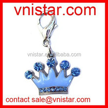 Vnistar blue crown charms with lobster catch for male dog pet TC012-1
