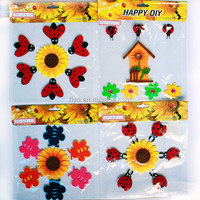 room felt insects and sunflower wall stickers
