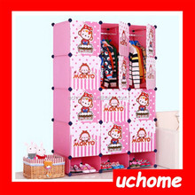 UCHOME Cartoon pattern adorable simple clothes cabinet hanging