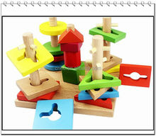 hot export educational for baby screw toys wooden train