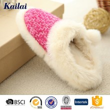 Cute cashmere silk ball safety comfort gel chinese slippers