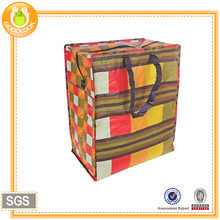 green recyclable material custom tote bag with zippers
