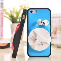 Newest design Phone Case With Earphone holder Fashion cellphone case for iphone 5 5S back cover