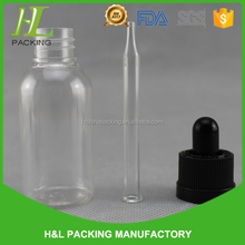 clear amber boston round 1oz plastic e juice dropper bottle with glass pipette
