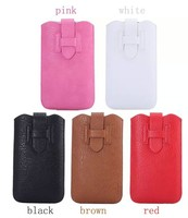 Pull Up Tab Leather Pouch Case for iphone 6 plus