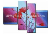 100% Hand painted modern flower oil painting fine art