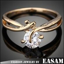 Very cheap creative fashion geometric zircon dubai engagement ring