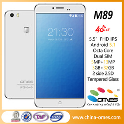 hot sell OEM brand unlocked M89 5.5 inch 4g LTE smart phone MTK Octa Core mobile phone