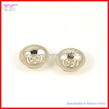 2012 Hot Sale Light Gold 4-hole button for apparel