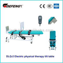 DLQ-2 With adjustable lifting wheel electric folding physical therapy tilt table
