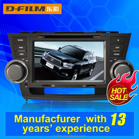 fast delivery car In dash radio with free map multiple language Mp3 player Video fit for Toyota Highlander
