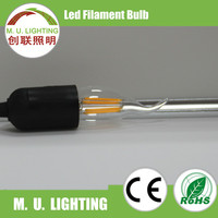 Factory price 1W/2W 4W glass C35 LED Filament Bulb