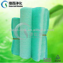 paint booth air filter mat/fiberglass floor filter(manufacture)