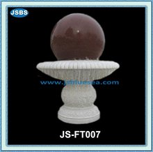 design factory marble carved fengshui ball fountain