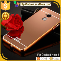 luxury aluminum ultra-thin mirror metal case cover for Coolpad note 3