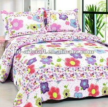 AY1270 High quality flower design of plain woven cotton elegant bedspreads