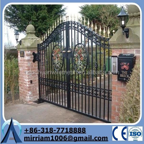 M tallique en fer forg porte de palissade porte du jardin for Porte metallique jardin