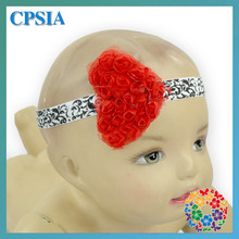 2015 Latest Headband Designs Heart Shape Beautiful Baby Fower Headband Lovely Baby Hair Accessories