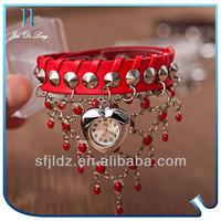 Heart-shaped dial bracelet watch Touch screen led watch