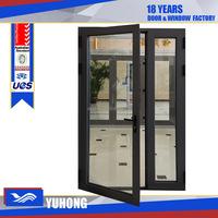 Swing opening French door type Aluminum single Entry door with BV certificate