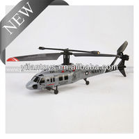 Single Blade Black Hawk 3CH RC Helicopter with Gyro