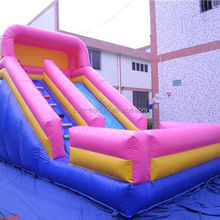 lake inflatable slide, ZY-DS1024 hot selling fire truck inflatable slide