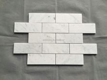 brick look italy carrara white marble mosaic bathroom wall tile prices