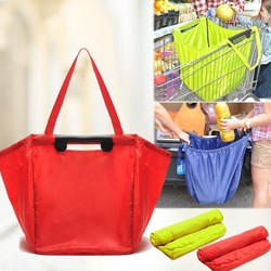 Non-Woven Convention Tote Bag Attaches To Cart groceries and shopping centers bags