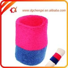 2015 red & dark blue sports cotton sweatband