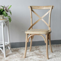 RCH-4001-22 Cheap home furniture wooden cane cross back dining Chair