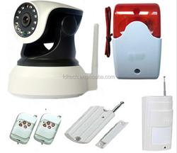 Support PIR Motion Sensor Smoke Detector Window/Door Sensor FDL Wireless IP Camera Wifi Home Alarm System with Cameras