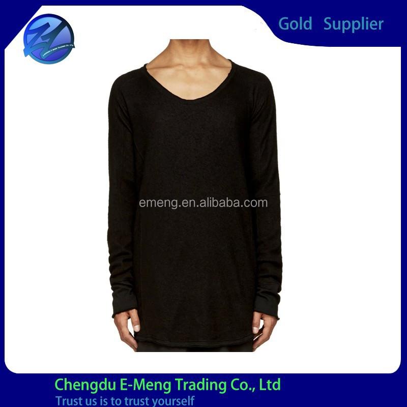High Quality Wholesale Plain Blank Long Sleeve Tall T