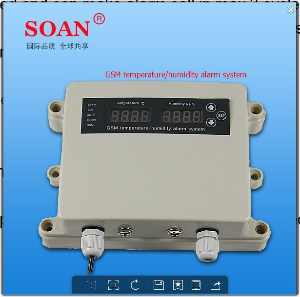 Humidity Monitoring System : Digital humidity and temperature monitor alarm system with