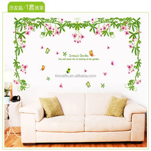 Green vines dream garden Three generations can remove the wall stickers Bedroom, living room sofa setting wall stick AY9078