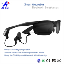 hot selling Bluetooth V4.0 Stereophonic Smart Sunglasses for Outdoor Activities