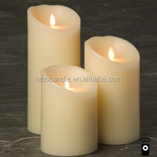 Hot sell New design flameless moving wick led candle