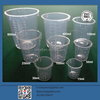 High quality measuring cup 400ml 30ml disposable plastic cup