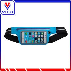 Wholesale waterproof elastic lycra sports waist bag for Iphone