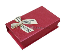 High quality custom color jewelry box, packaging boxes with bow tie