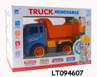 2014 New DIY Cartoon friction toy truck, building block truck series,diy block engineering truck