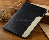Black Flip Leather Case Cover + Screen Protector For APPLE iPad 6/iPad Air 2