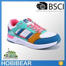 HOBIBEAR hot selling new model female flat sneakers casual sport shoes for women