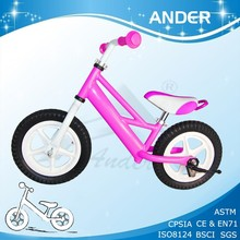 colored kids racing bike for outer door / walk bike /baby's scooter