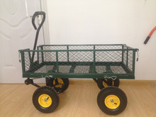 steel flatbed garden cart yard wagon heavy duty and great for landscaping with 250KG Capacity TC1840